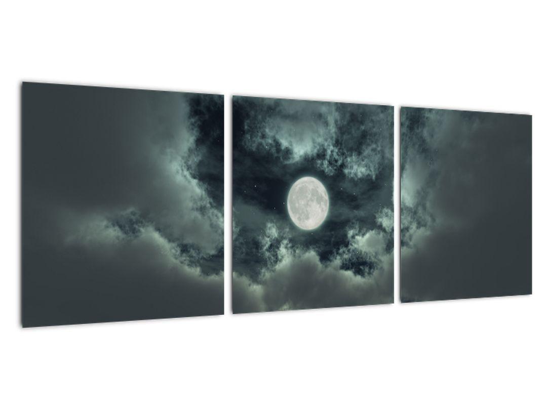 Slika - luna in oblaki