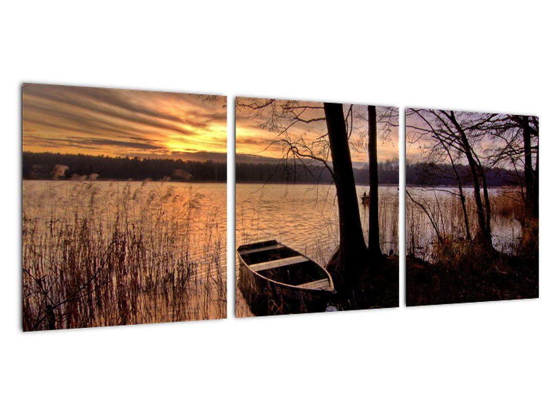 Slika - čolnarjenje po jezeru