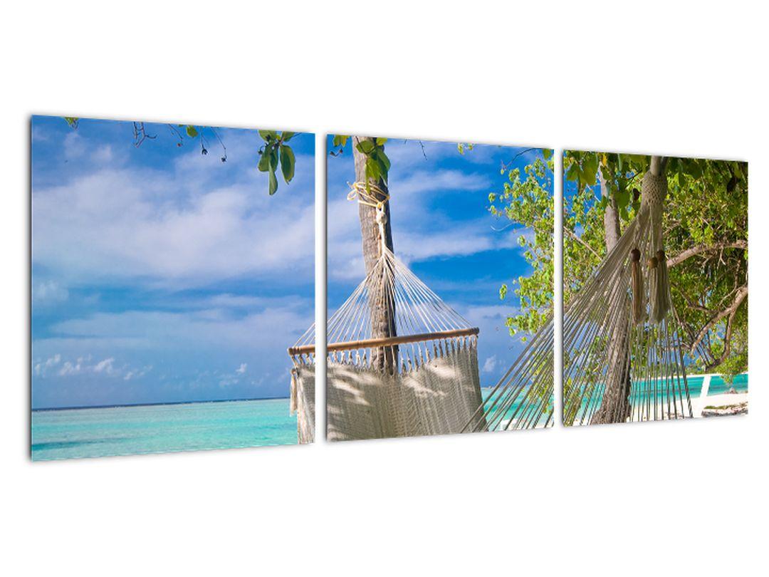 Slika - ležalniki na plaži
