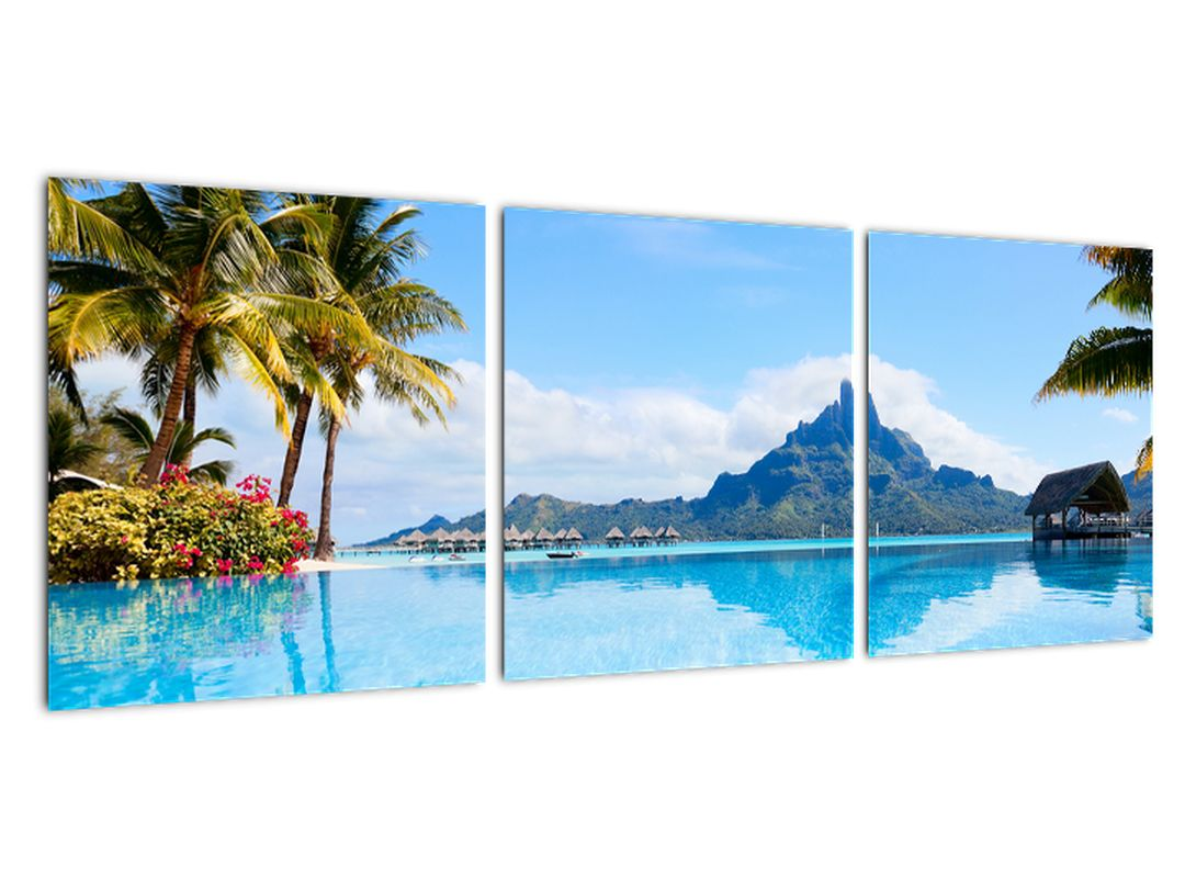 Moderna slika - raj ob morju