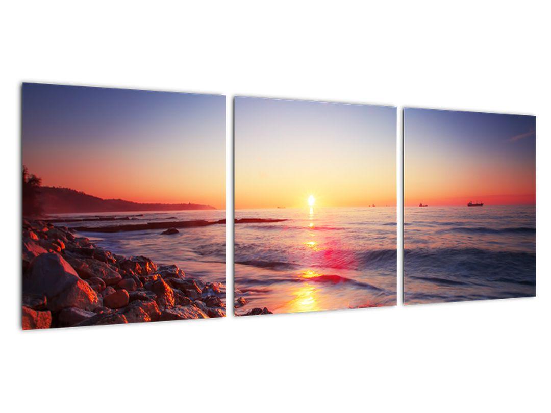 Moderna slika - sončni zahod nad morjem
