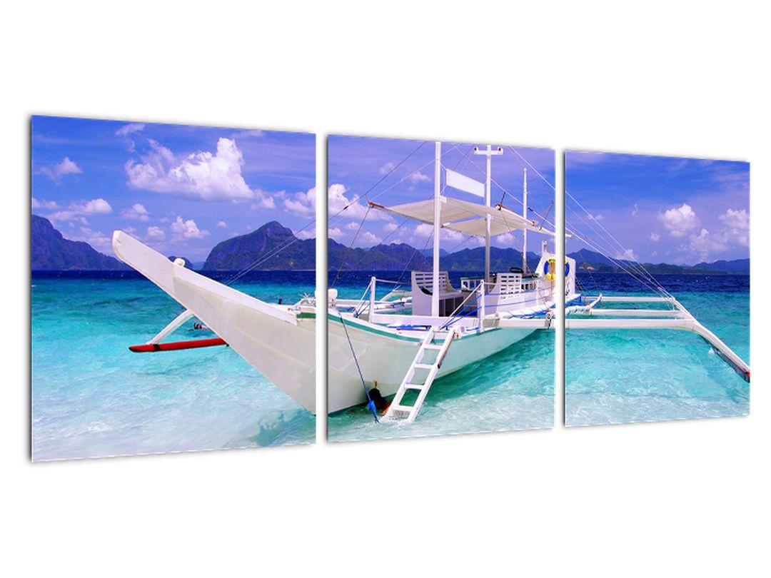 Ladja na morju - slika