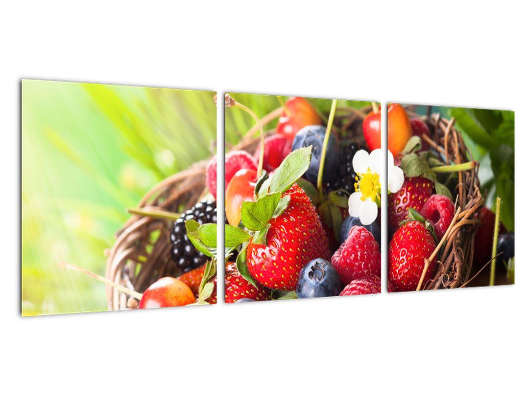 Slika - borovnice, jagode in maline