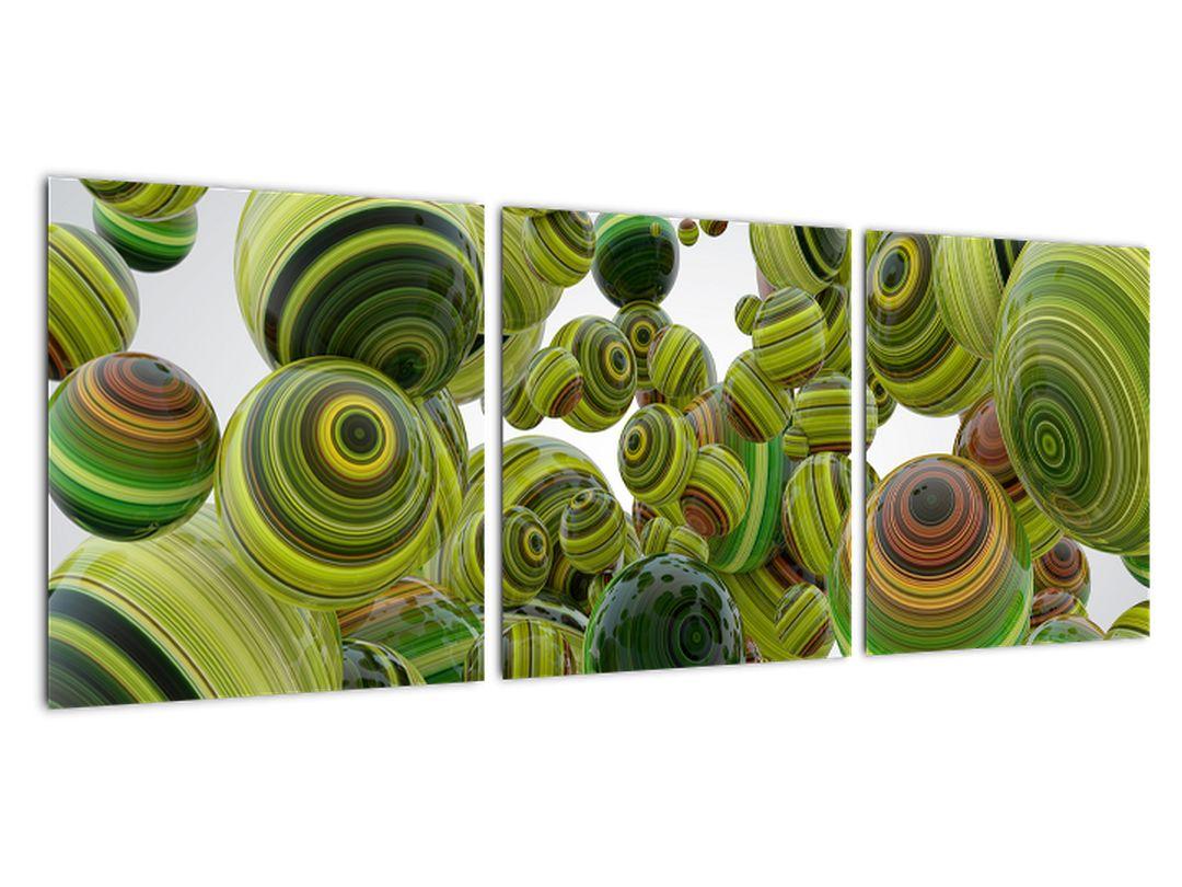 Abstraktna slika - zelena krogla