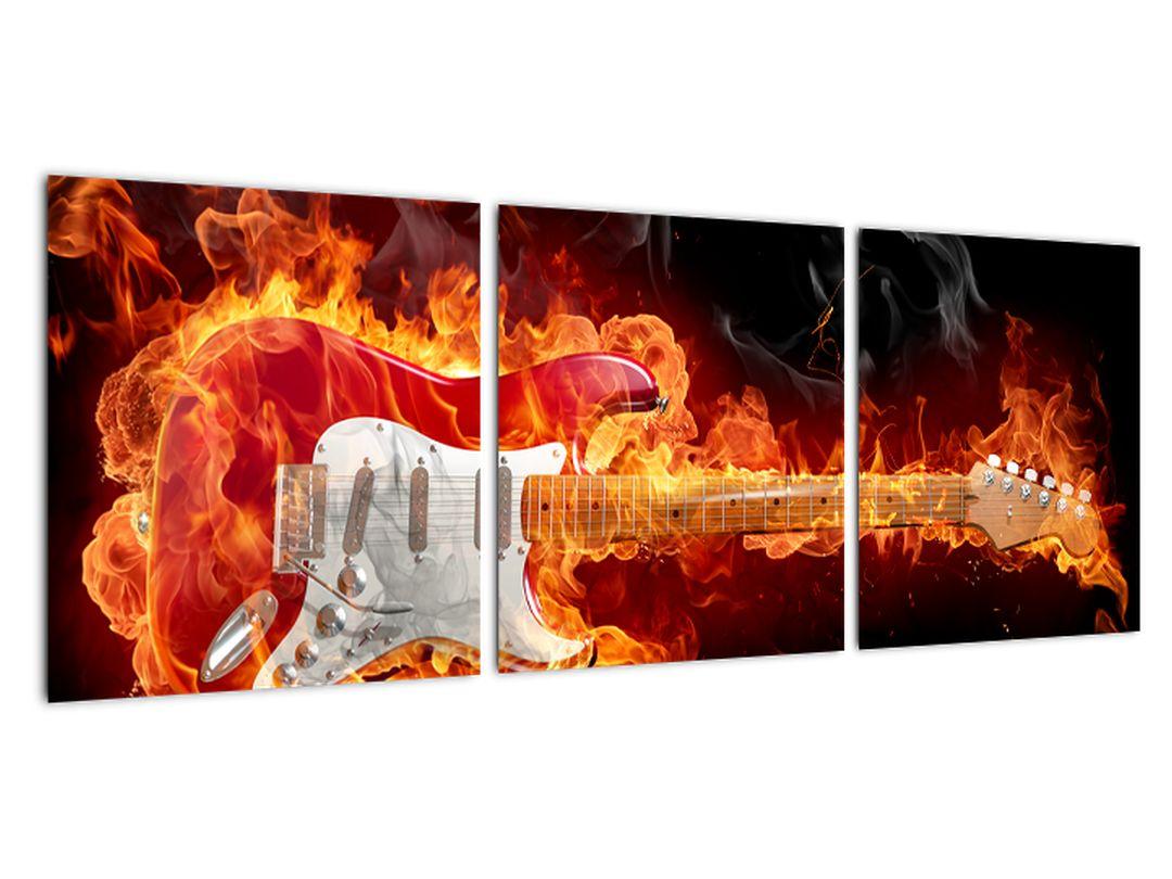 Slika - kitara v ognju