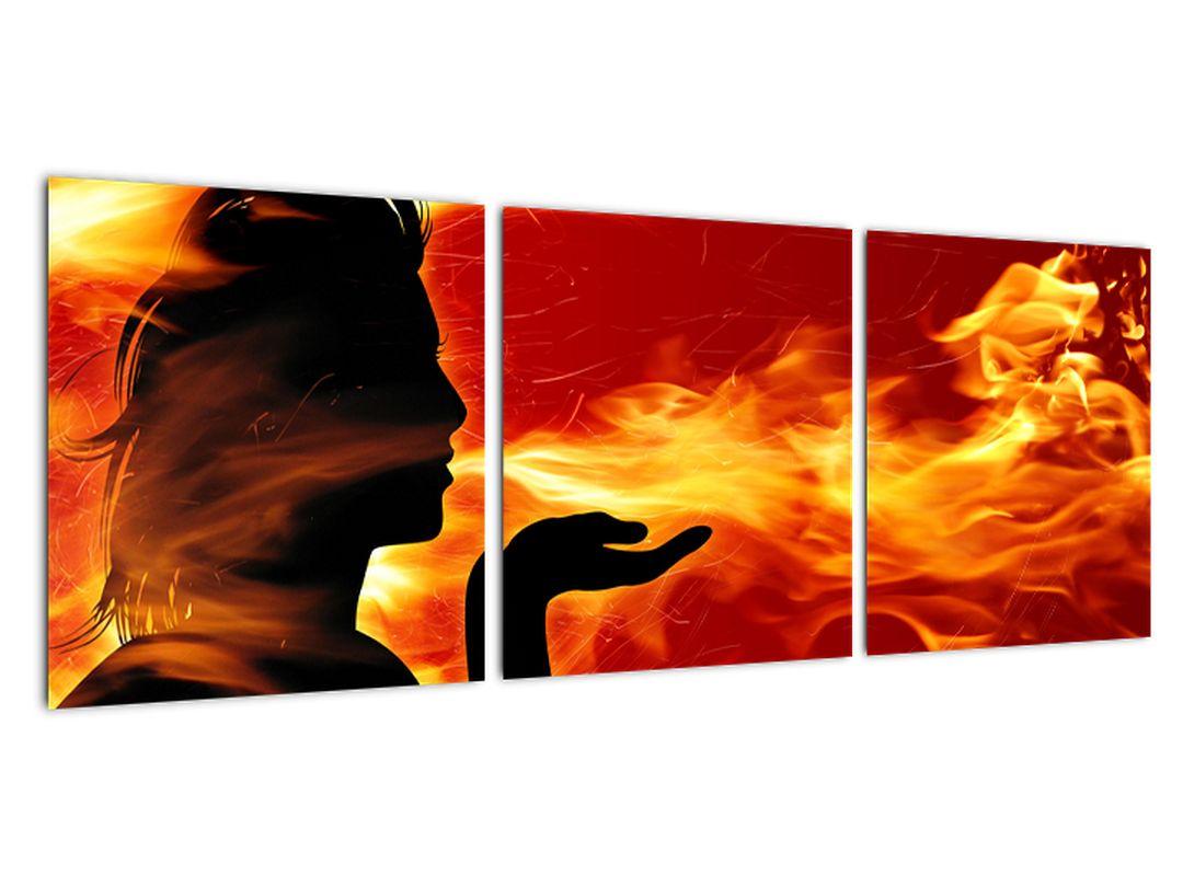 Slika - ženska v ognju