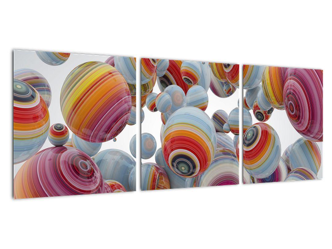 Abstraktna slika - barvne krogle
