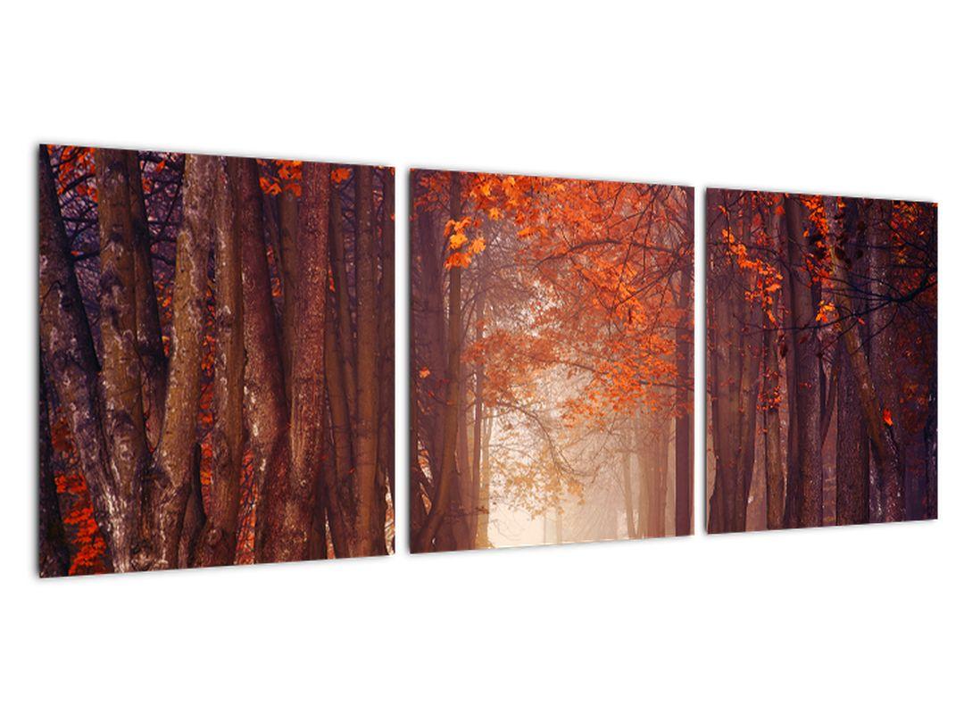 Jesenski gozd - slika