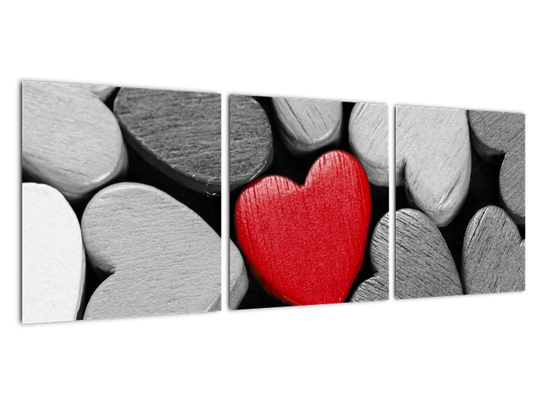 Rdeča srca - slike na steni
