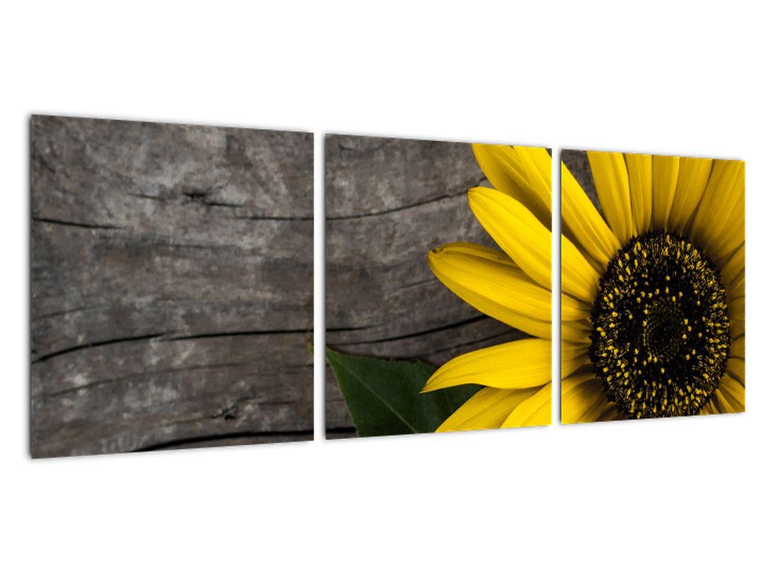 Slika - sončnice na mizi