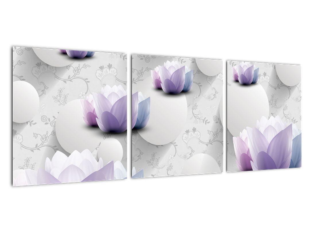 Abstraktna slika - rože