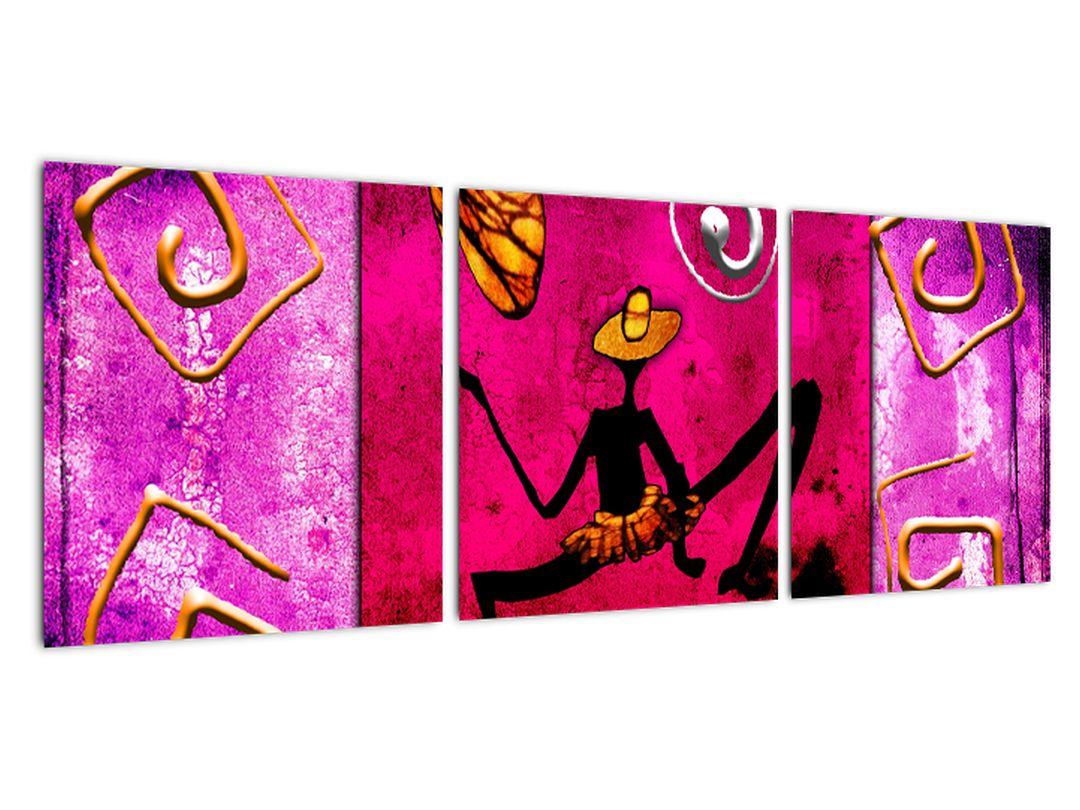 Abstraktne slike na steni